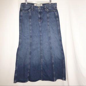 GAP Denim Maxi Skirt Size 12